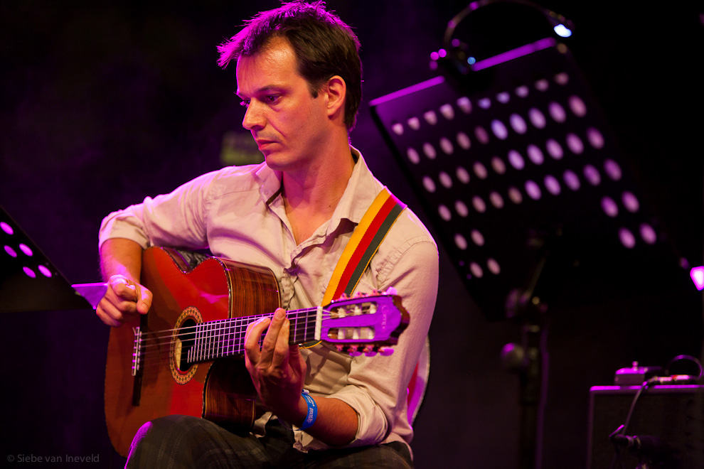 Dutch guitarist Jesse van Ruller with Chris Potter Tentet at North Sea Jazz 2010.