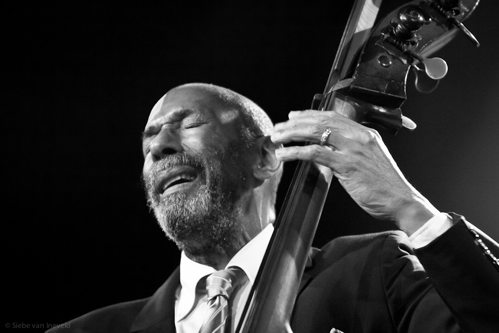 Bassist Ron Carter with his Double Striker Trio. North Sea Jazz 2010.