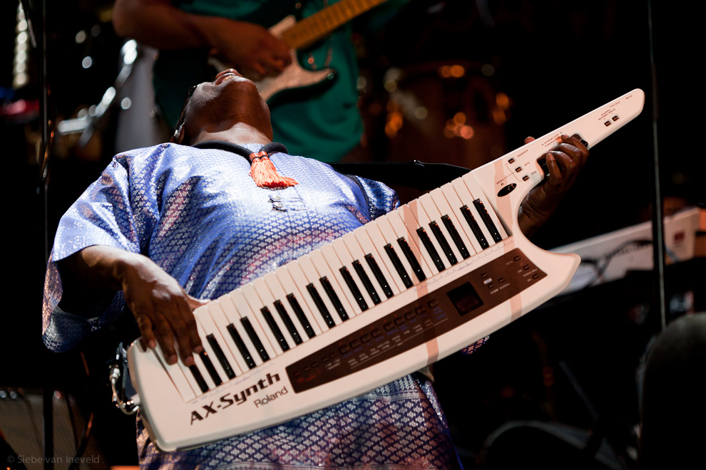 Photo of Stevie Wonder in his Solo, North Sea Jazz 2010